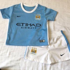 Manchester City FC baby soccer kit
